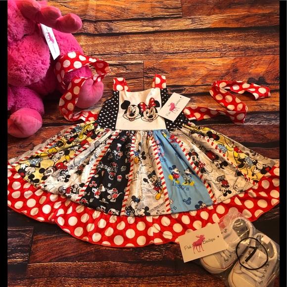 Mickey Minnie Mouse Girls Boutique Twirl Dress
